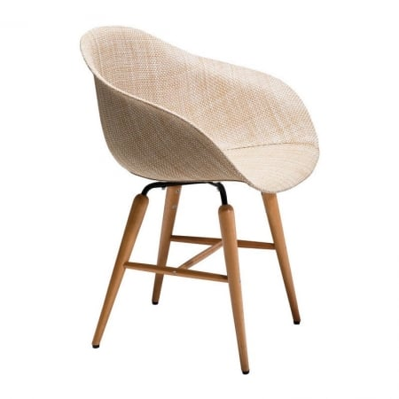 Chair with Armrest Forum Wood Natural