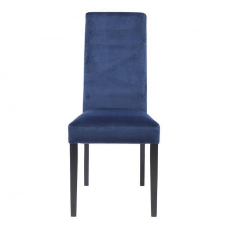 Chair Econo Slim Velvet Blue