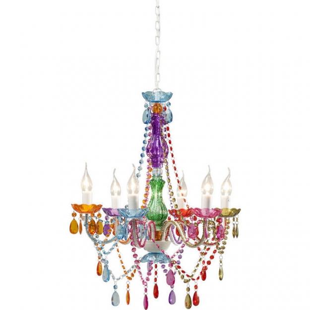 Pendant Lamp Starlight Rainbow 6-Branched