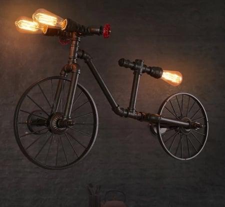 Светильник настенный Industrial Bike 55х95см
