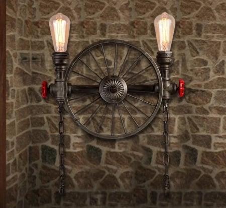 Бра Industrial Wheel на 2 плафона d-30см