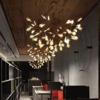 ЛЮСТРА LED PETALS COPPER D98/H65