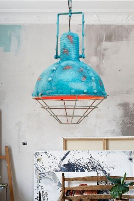 Светильник потолочный Bathyscaphe Blue d-30см
