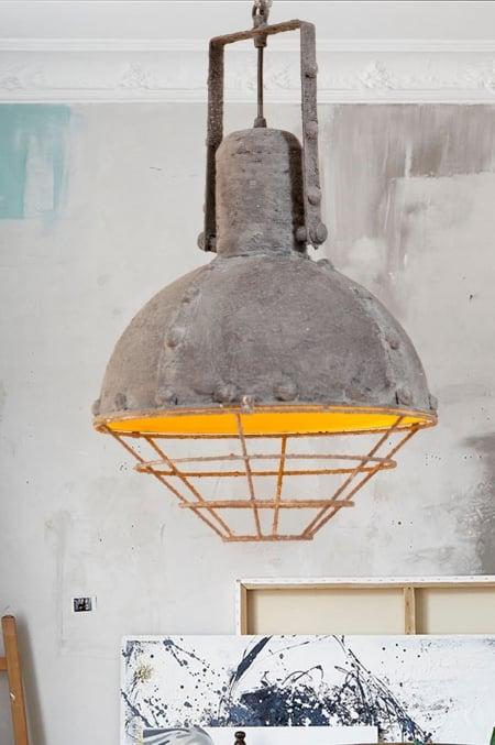 Светильник потолочный Bathyscaphe Grey d-30см