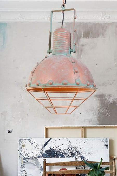 Светильник потолочный Bathyscaphe rust d-30см