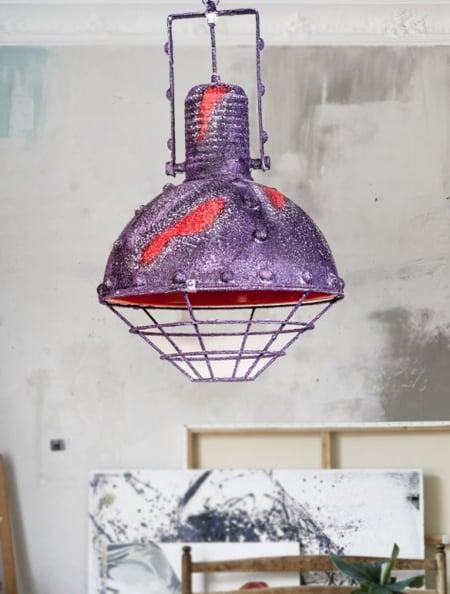 Светильник потолочный Bathyscaphe purple rust d-30см