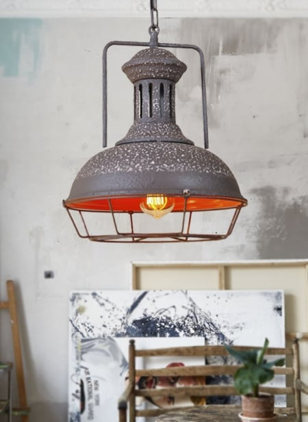 Светильник потолочный Industrial old grey d-33см