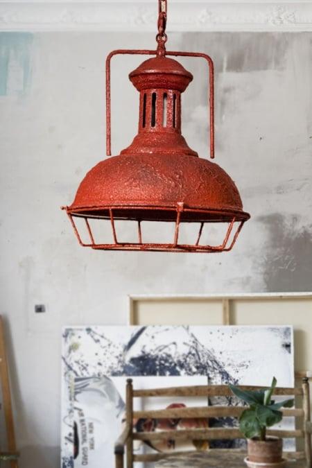 Светильник потолочный Industrial red rust d-33см