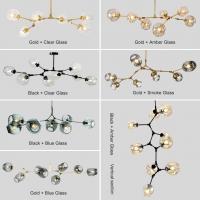 Люстра Glass Gold/Amber 8P