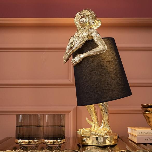 Светильник настольный Animal Monkey Gold Black