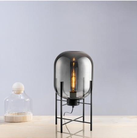 Светильник настольный Glass ovaal Smoky Grey h-48см