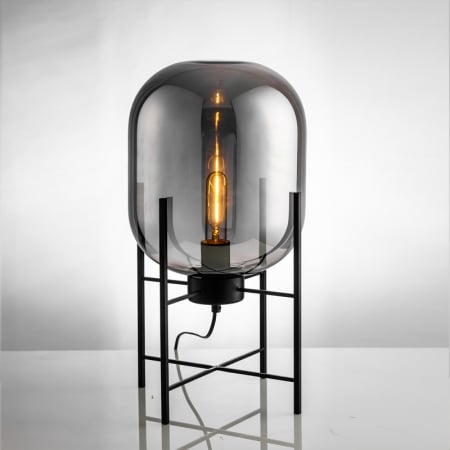 Торшер Glass ovaal Smoky Grey d37 h75см