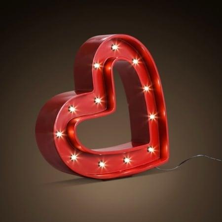 Настольный светильник Heart h26 l25cm