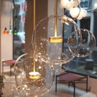 Подвес LED Bubbles Clear 3+1 H50/D38
