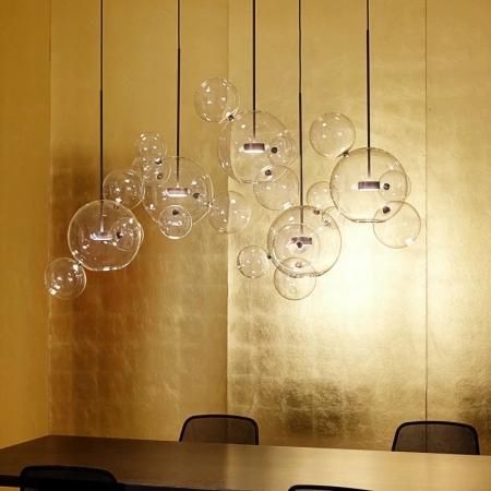Потолочный светильник Bubbles Clear 5+1