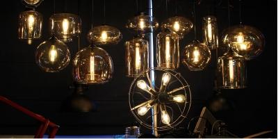 Подвес Loft Glass Amber D30/H30