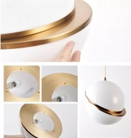 Подвес Semicircle White/Gold D30/H30