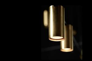 Люстра LED Black/Gold L160 9P