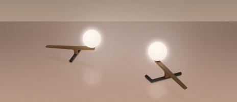 Настольная лампа LED Flask Black/Gold L27/H13 (Ожидаемый товар)