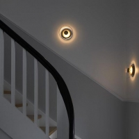 БРА LED JELLYFISH GOLD/CLEAR D23*H9