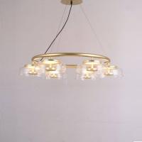 Люстра LED Jellyfish Gold/Clear D80/H150cm