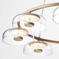 Люстра LED Jellyfish 8P Gold/Clear D80/H150cm