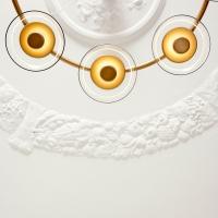 Люстра LED Jellyfish 6P Gold/Clear D80/H150cm
