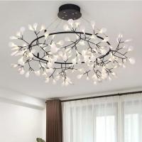 Люстра LED Petals Black D125/H30