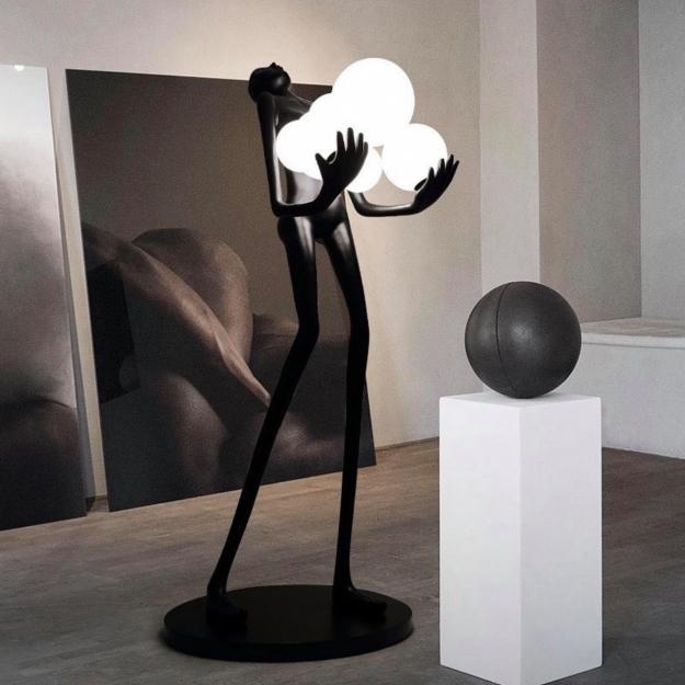 Торшер Man Baloons Black/White H180