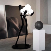 Торшер Man Baloons Black/White H182