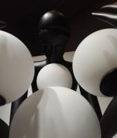 Торшер Girl Baloons Black/White H190