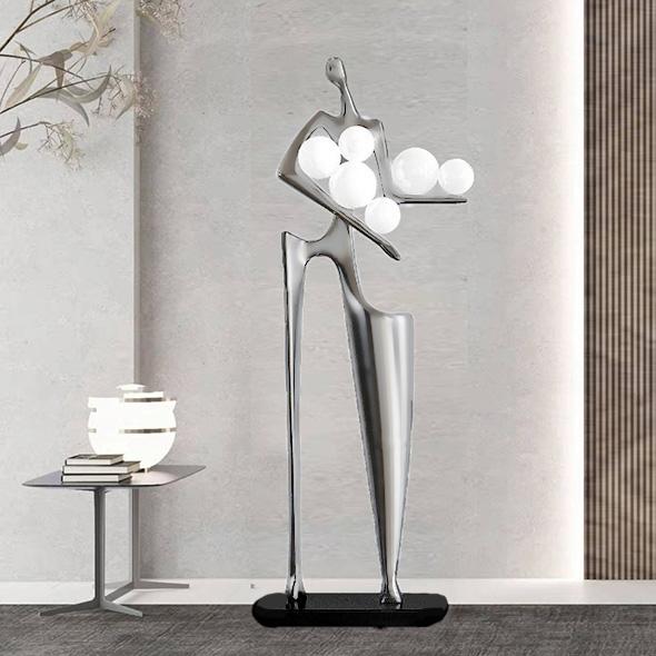 Торшер Palza  Silver/White H190