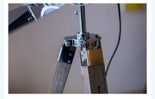 Торшер Wooden leg silver 20х138см