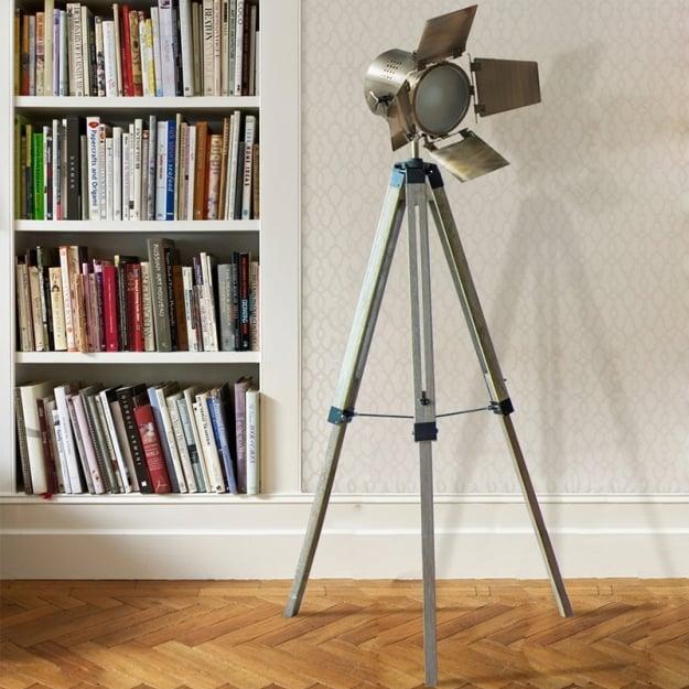 Торшер Wooden leg bronze 20х138см