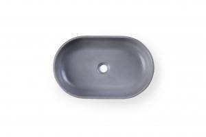 Умывальник Beton Oval Dark-Gray