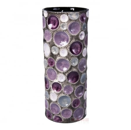 Vase Circles Round Purple 36