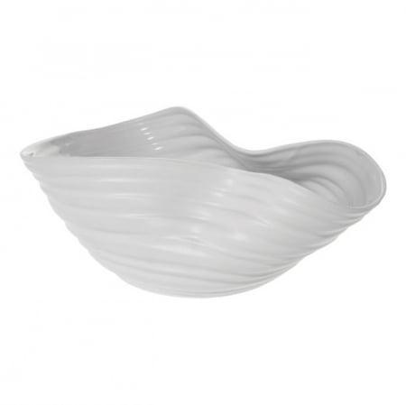 Vase White Wrinkle Wide