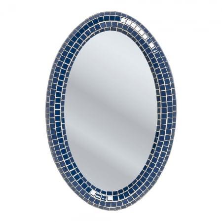 Mirror Square Blue Oval 90x60cm